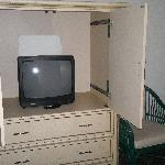 Not the biggest TV set in the second bedroom...