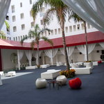 Hotel Courtyard and Bar (also reception area - open to outside - very cool