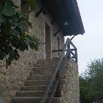 escalera de acceso a habitaciones