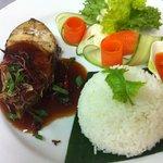 grilled mackerel with tamarin sauce