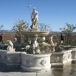 A gorgeous fountain featuring Neptune
