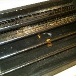 The grill of the heating unit--filthy