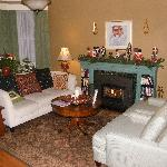 Warm and inviting B&B den.