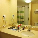 Bath room was fine,  good shower head, clean, fully functional.