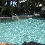 Beautiful pool, very relaxing