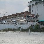Our motel from the beach