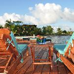 Pier Lounging and Sunning - Belize Resorts