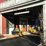 Front entry - seasonal decorations