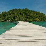 Walkway to the 'chillout' island!