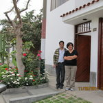 Kike and Miriam in front of the B& B