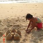 The sand castles.. spend quality time with your kids...