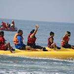 The banana boat ride.. and many other such water sports await you at Sai vishram