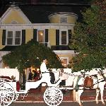 Horse Drawn Carriage in front of the Stanley House