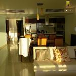 гостинная с кухней