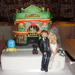A couple meet at the Walkabout 10 years ago and this is their wedding cake, pretty cool!!!