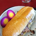 roast beef and egg.