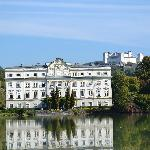 Back of the Von Trapp House and Salzberg Castle