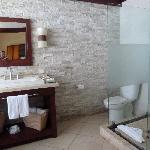 The bathroom of the beach front suite