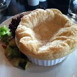 Amazing chicken pot pie at lunch