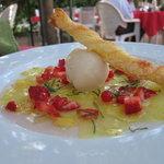 Pineapple carpaccio for dessert