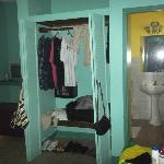 My room view of closet and bathroom