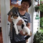 Mama Chung & Xiaohua (the cat)