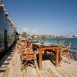 therestaurant's veranda