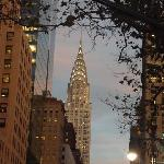 chryslet building at dusk