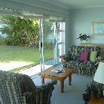 Sunny garden lounge