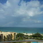 View of Rainbow from Condo Rooftop