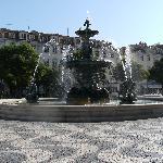 Rossio Square where hotel is