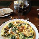 florentine omelette and organic toast