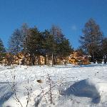 la neige et la résidence de la crête du berger