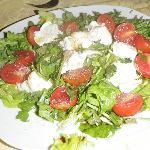 Wonderful burrata & arugula salad