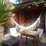 terrasse de la chambre avec hamac