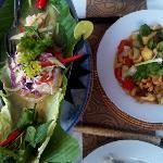 Steamed fish & stir fried vegetables
