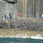 The remarkable rock formations on Staffa near Fingal's Cave