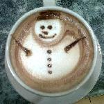 Snowman in Ah Cacao