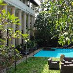 The garden and the swimming pool