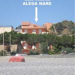 Case Vacanza Alega Mare visto dalla spiaggia