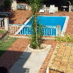 vista della piscina dalla veranda