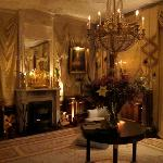 The sitting room at night