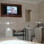 television in the bathroom
