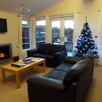 Lounge...Complete with Christmas Tree!