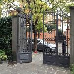 gate to the hotel