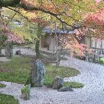 Komyozenji rock garden in back