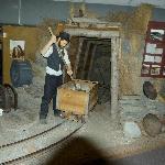 gold mining display