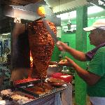 Watch taco making.