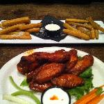 Fried Zuchinni & Buffalo Wings