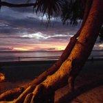 bamboo bunglaws sunset